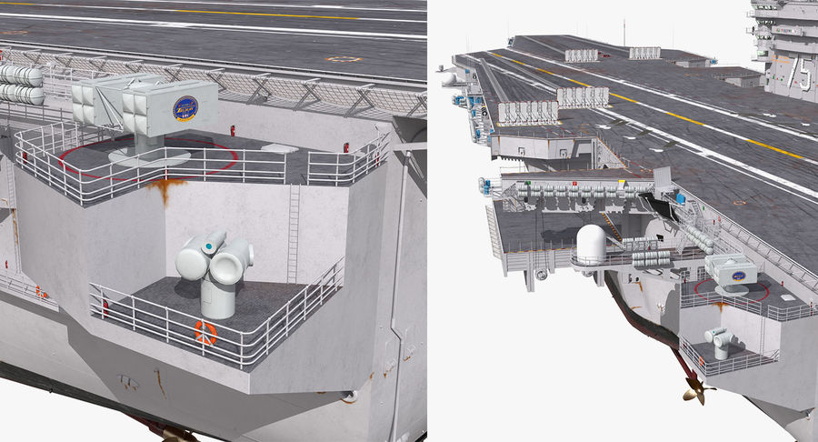 US Aircraft Carriers Collection royalty-free 3d model - Preview no. 46