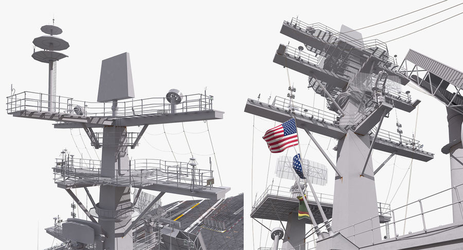 US Aircraft Carriers Collection royalty-free 3d model - Preview no. 37