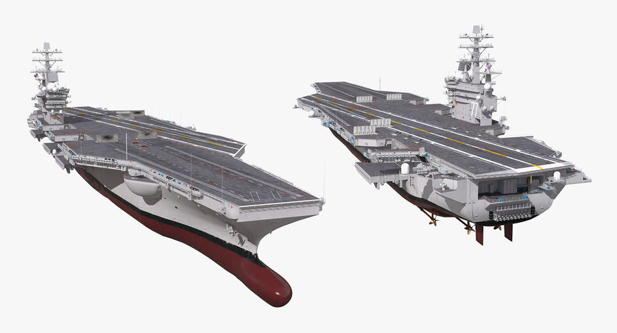 US Aircraft Carriers Collection royalty-free 3d model - Preview no. 32