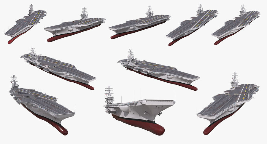 US Aircraft Carriers Collection royalty-free 3d model - Preview no. 2