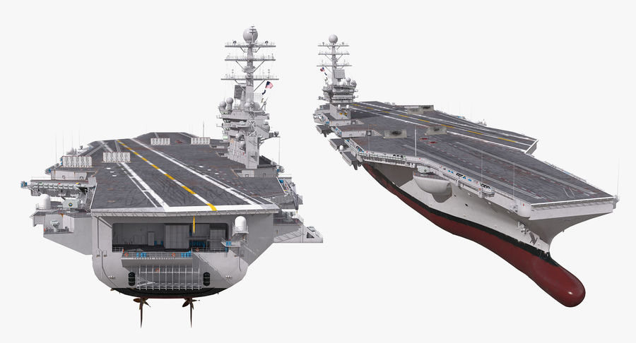 US Aircraft Carriers Collection royalty-free 3d model - Preview no. 62