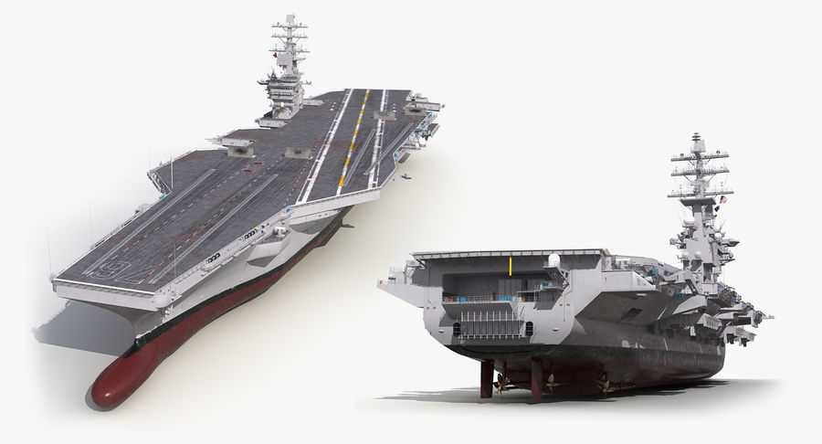 US Aircraft Carriers Collection royalty-free 3d model - Preview no. 67