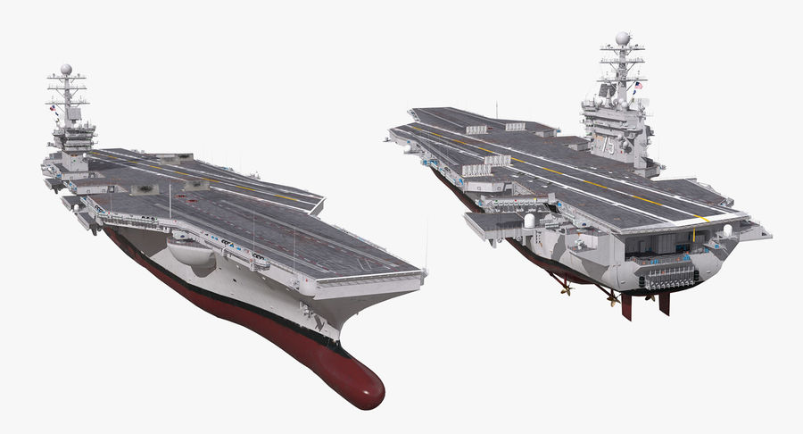 US Aircraft Carriers Collection royalty-free 3d model - Preview no. 45