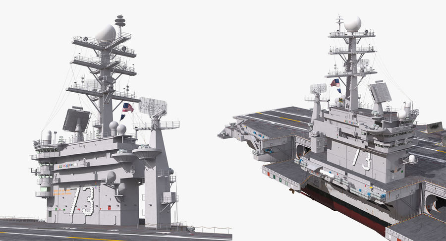 US Aircraft Carriers Collection royalty-free 3d model - Preview no. 40