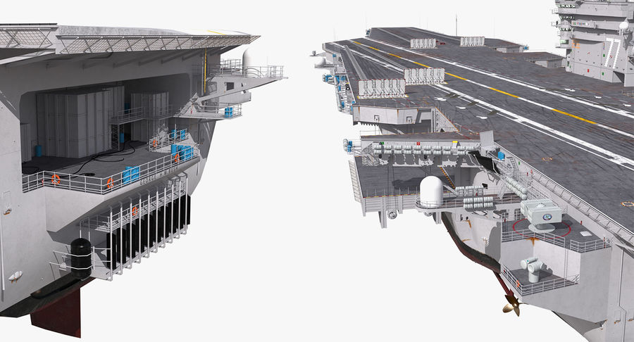 US Aircraft Carriers Collection royalty-free 3d model - Preview no. 34