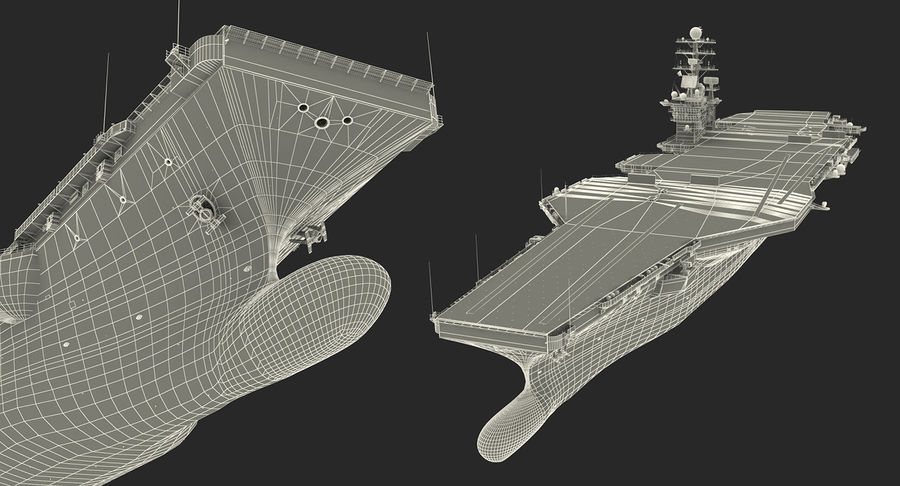 US Aircraft Carriers Collection royalty-free 3d model - Preview no. 78