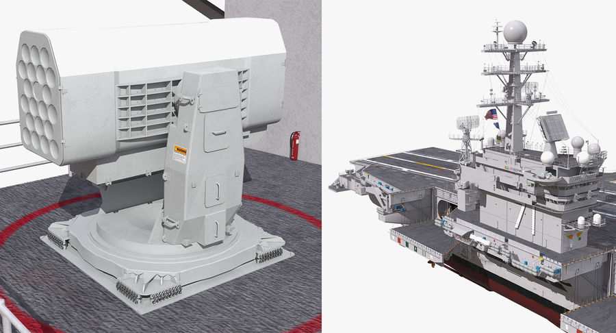 US Aircraft Carriers Collection royalty-free 3d model - Preview no. 65