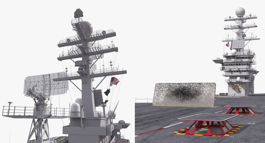 US Aircraft Carriers Collection royalty-free 3d model - Preview no. 20