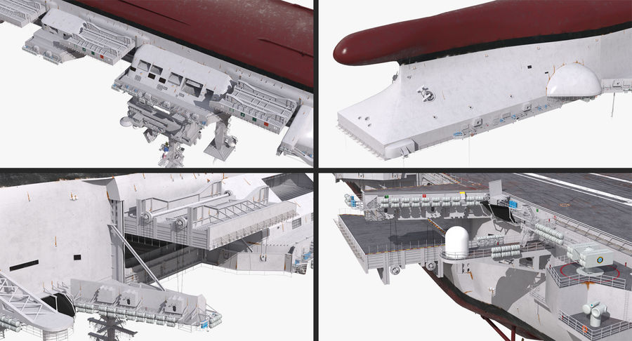 US Aircraft Carriers Collection royalty-free 3d model - Preview no. 14
