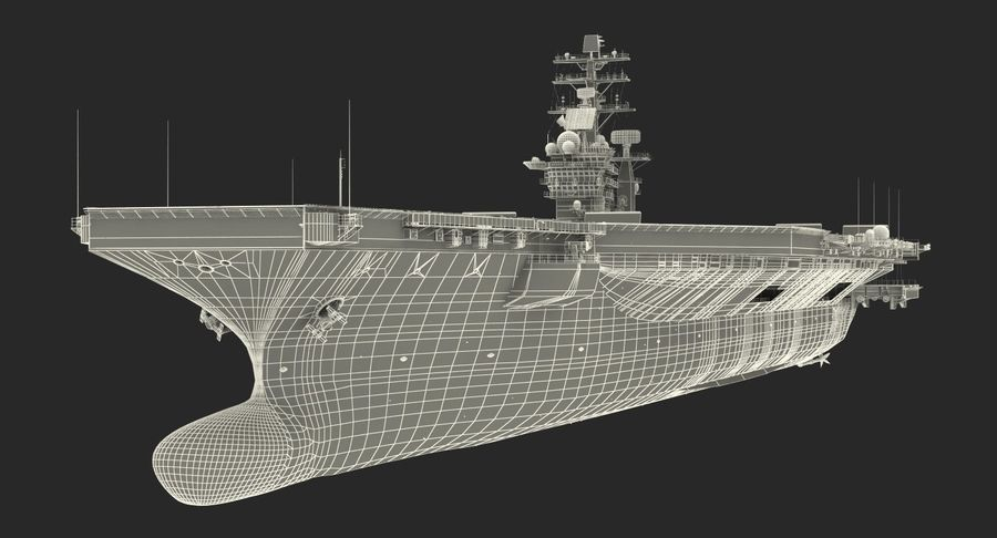 US Aircraft Carriers Collection royalty-free 3d model - Preview no. 73
