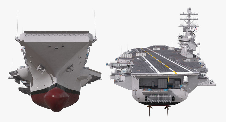 US Aircraft Carriers Collection royalty-free 3d model - Preview no. 33