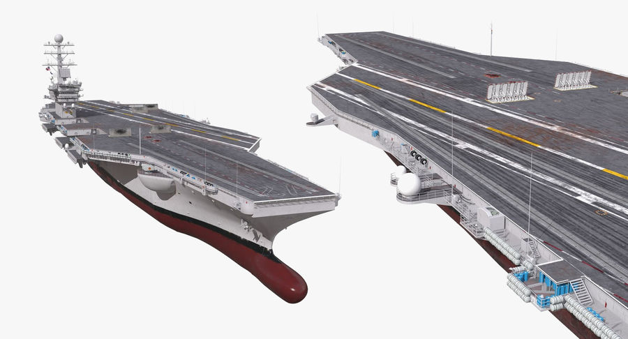 US Aircraft Carriers Collection royalty-free 3d model - Preview no. 18