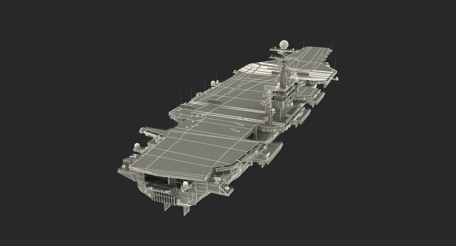 US Aircraft Carriers Collection royalty-free 3d model - Preview no. 74