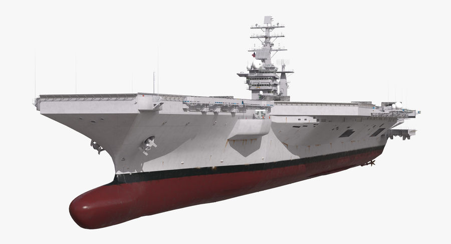 US Aircraft Carriers Collection royalty-free 3d model - Preview no. 3