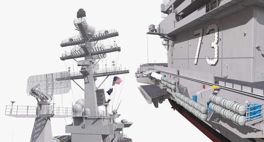 US Aircraft Carriers Collection royalty-free 3d model - Preview no. 41