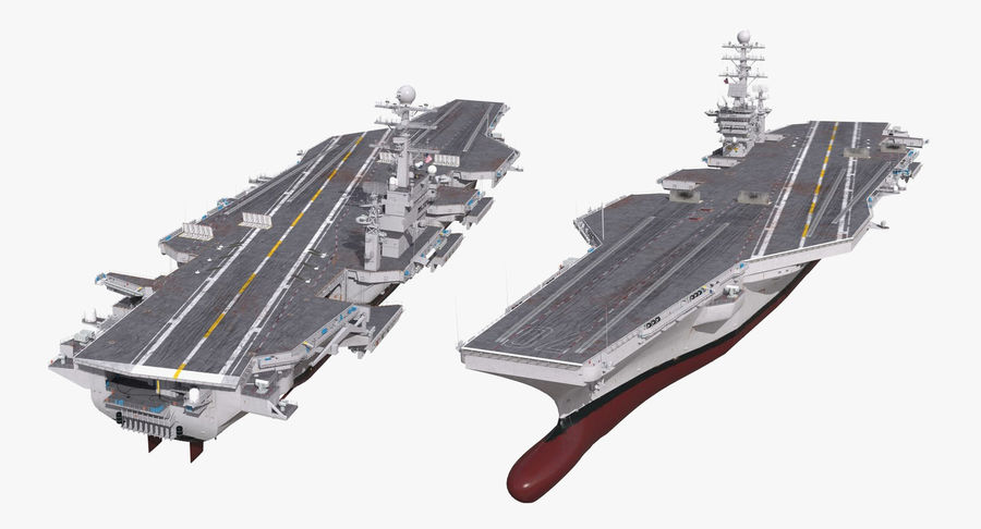 US Aircraft Carriers Collection royalty-free 3d model - Preview no. 25