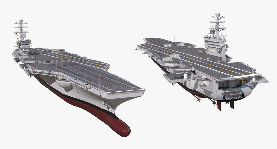 US Aircraft Carriers Collection royalty-free 3d model - Preview no. 51
