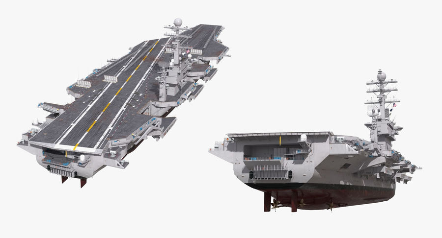 US Aircraft Carriers Collection royalty-free 3d model - Preview no. 16
