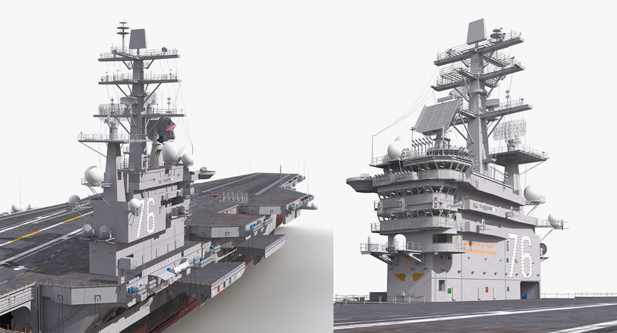US Aircraft Carriers Collection royalty-free 3d model - Preview no. 68