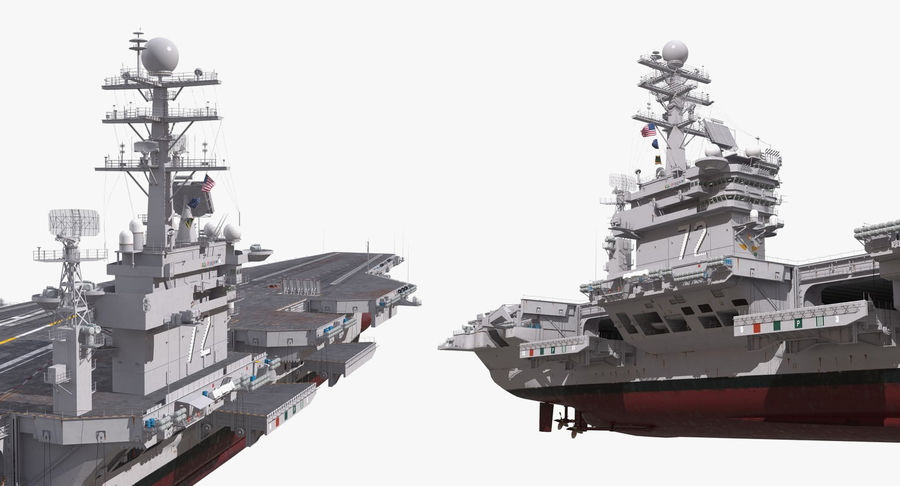 US Aircraft Carriers Collection royalty-free 3d model - Preview no. 17