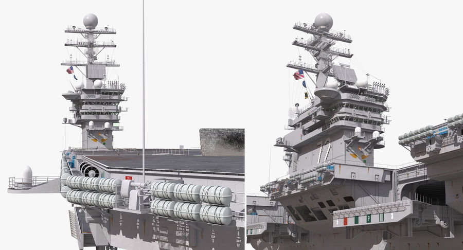 US Aircraft Carriers Collection royalty-free 3d model - Preview no. 19