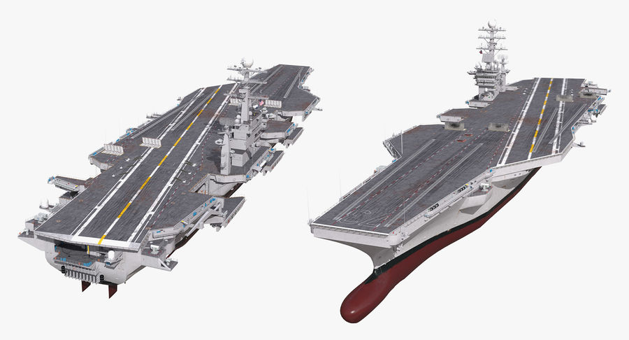US Aircraft Carriers Collection royalty-free 3d model - Preview no. 38