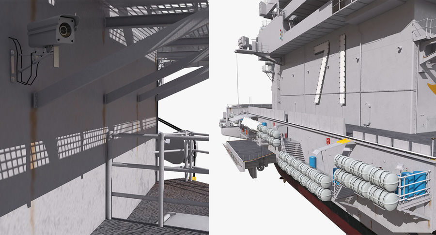 US Aircraft Carriers Collection royalty-free 3d model - Preview no. 63