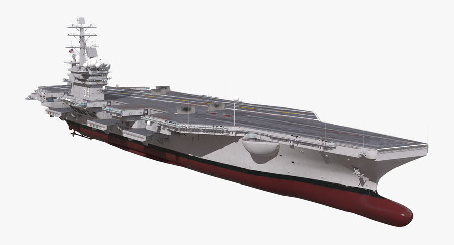 US Aircraft Carriers Collection royalty-free 3d model - Preview no. 4