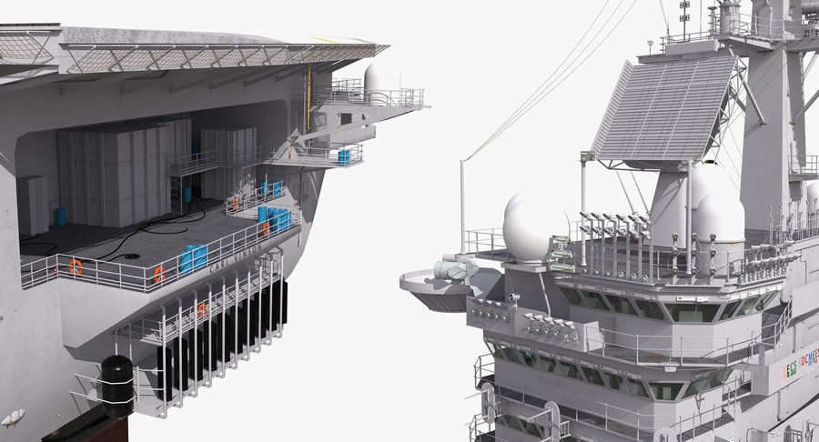 US Aircraft Carriers Collection royalty-free 3d model - Preview no. 30