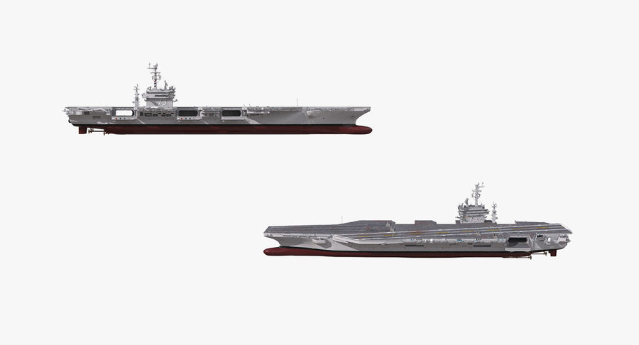 US Aircraft Carriers Collection royalty-free 3d model - Preview no. 39