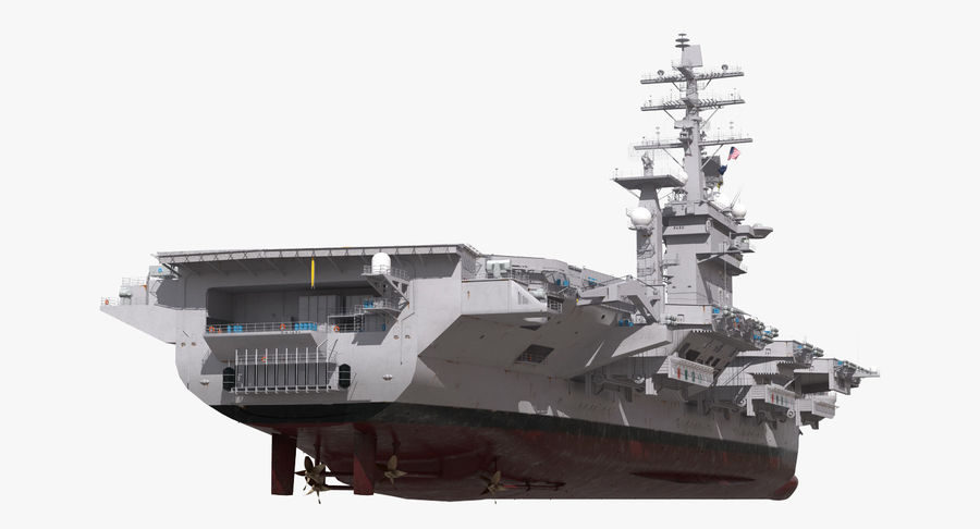 US Aircraft Carriers Collection royalty-free 3d model - Preview no. 7