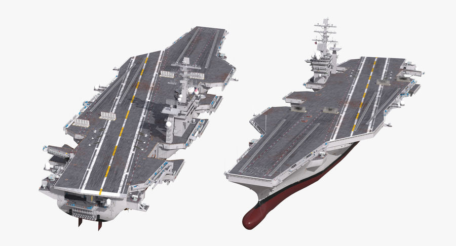 US Aircraft Carriers Collection royalty-free 3d model - Preview no. 6