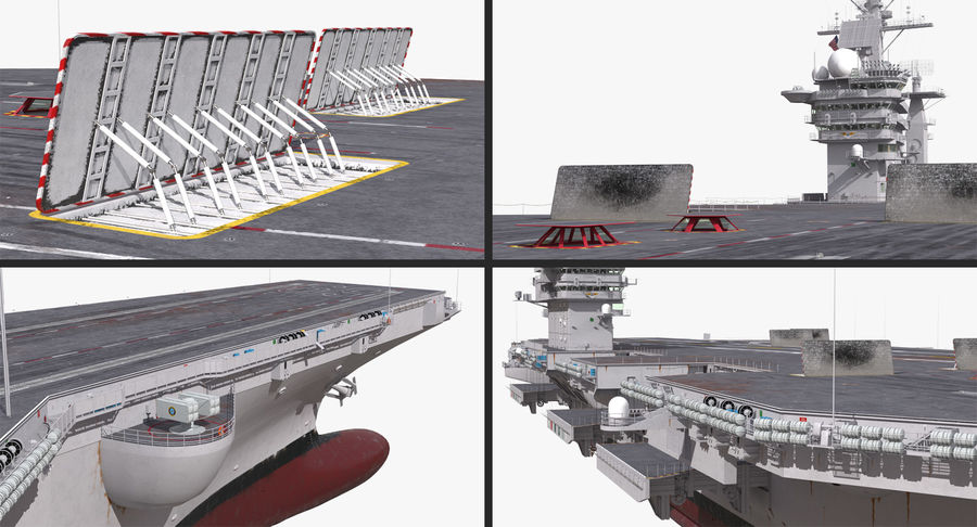 US Aircraft Carriers Collection royalty-free 3d model - Preview no. 10