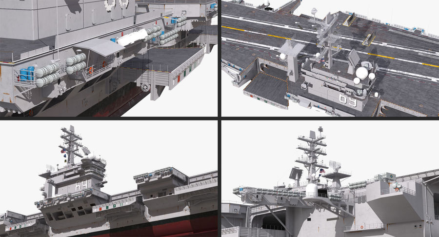 US Aircraft Carriers Collection royalty-free 3d model - Preview no. 8