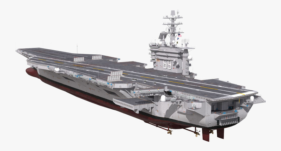 US Aircraft Carriers Collection royalty-free 3d model - Preview no. 5