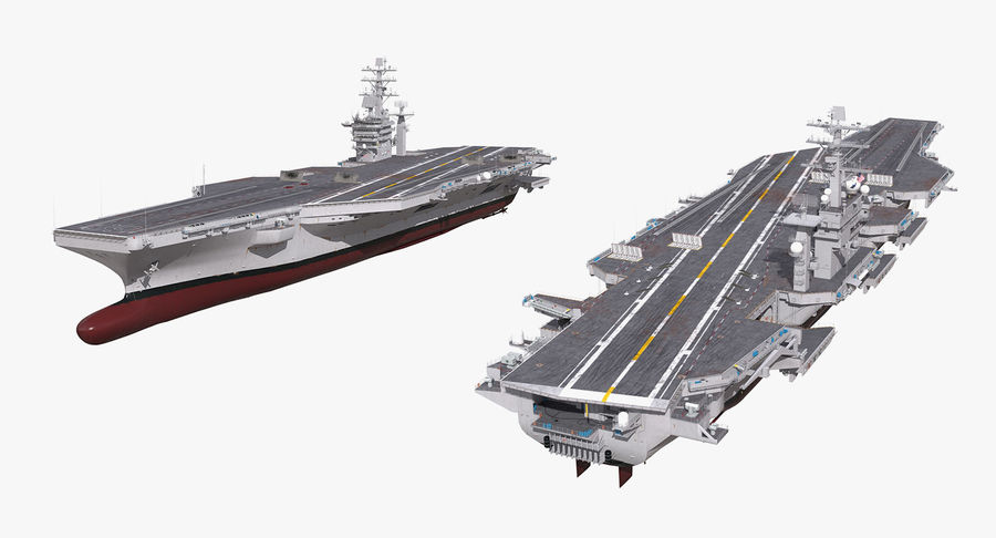 US Aircraft Carriers Collection royalty-free 3d model - Preview no. 57