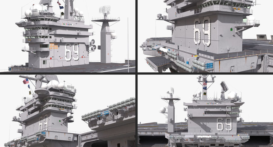 US Aircraft Carriers Collection royalty-free 3d model - Preview no. 11