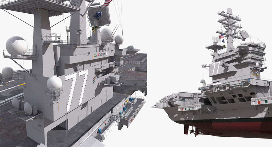 US Aircraft Carriers Collection royalty-free 3d model - Preview no. 36