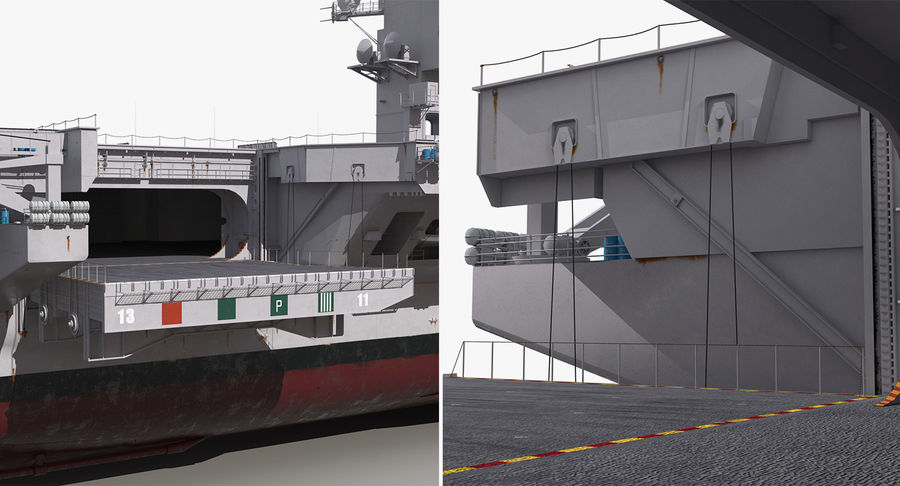 US Aircraft Carriers Collection royalty-free 3d model - Preview no. 70