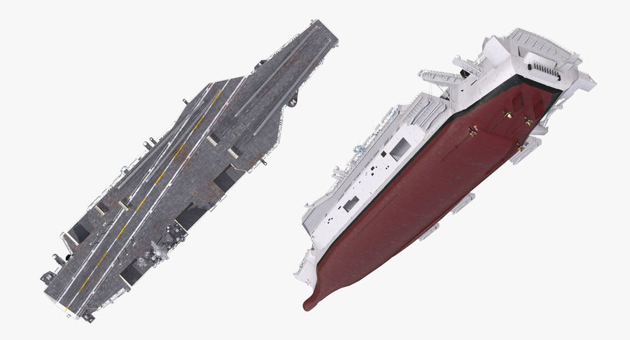 US Aircraft Carriers Collection royalty-free 3d model - Preview no. 26