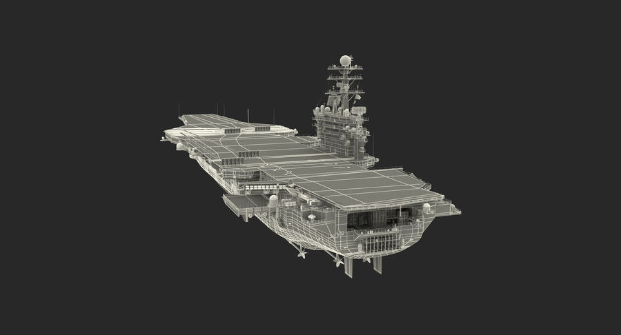 US Aircraft Carriers Collection royalty-free 3d model - Preview no. 75