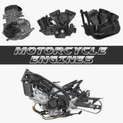 Motorcykelmotorer 3D-modeller Samling 2 3d model