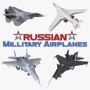 Russian Millitary Airplanes Collection 3d model