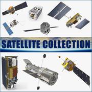 Coleção de satélite 3 3d model