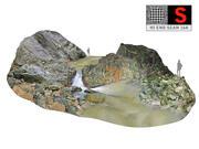 Tajlandia Wodospad w dżungli 3d model