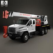 Ural Next Crane Truck 2015 3d model