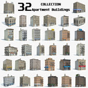 32 Apartment Buildings Collection 3d model