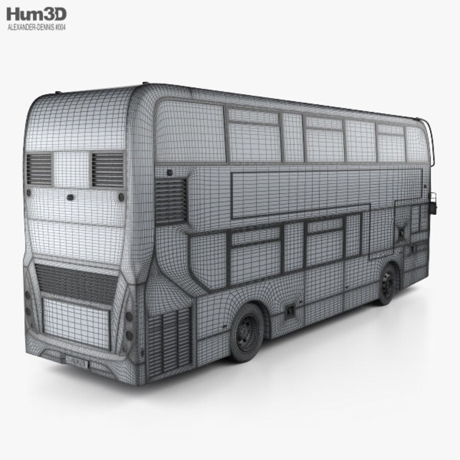 Alexander Dennis Enviro400 Double Decker Bus 2015 royalty-free 3d model - Preview no. 4