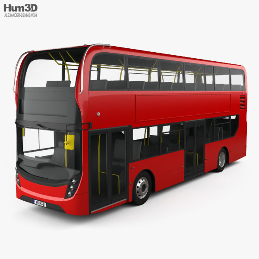 Alexander Dennis Enviro400 Double Decker Bus 2015 royalty-free 3d model - Preview no. 1