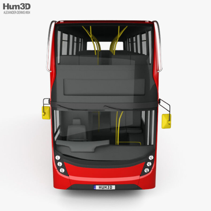 Alexander Dennis Enviro400 Double Decker Bus 2015 royalty-free 3d model - Preview no. 10